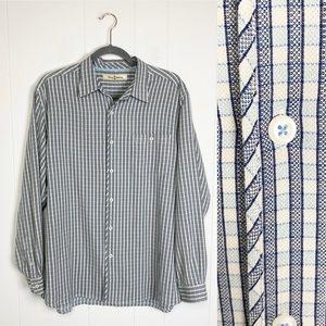 Tommy Bahama Silk Blend Check Print Shirt Sz. L